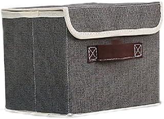 Chytaii Boîte Panier de Rangement Organisateur de Vêtements Soutien-Gorge Chaussettes avec Couvercle en Tissu Non-Tissé Mu...