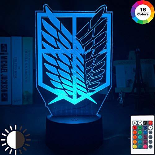 Luz Nocturna 3D Alas De La Libertad Lámpara De Ilusión Óptico De LVYONG Con Control Remoto 16 Cambio De Color Luces Led Usb De Táctil Para El Hogar Decoración Mejor Regalo Para Niños
