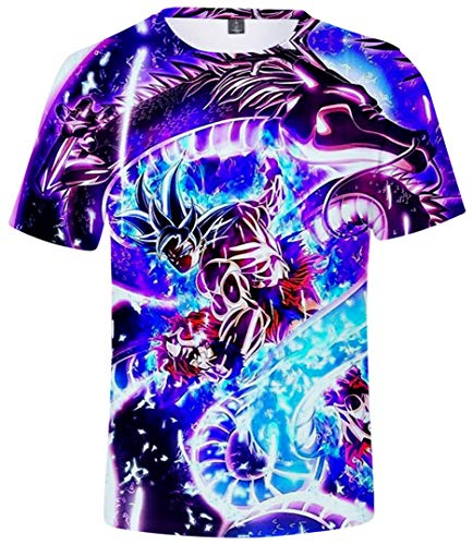 Silver Basic Dragon Ball Abbigliamento Bambino Maglietta Heroes T Shirt Top,816-2,XXS…