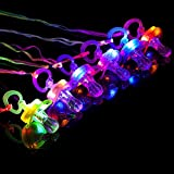 BAOQISHAN 6PCS Colorful Flash Led Whistle Nipple-Type Flash Whistle Suitable for Activities in KTV and Bar Concert Tools for Cheering for Sports Events