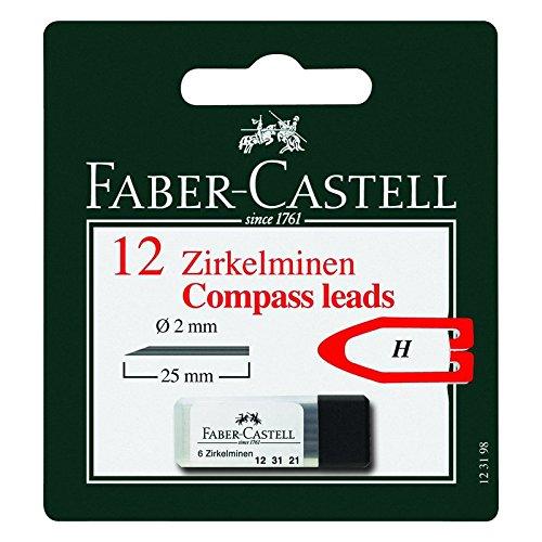 Faber Castell 123198 Lot de 12 Mine Compas H 2 mm