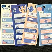 1パックカワイイサボテンラブメモパッドマーカーメッセージ付箋装飾学校事務用品文房具