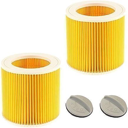 Filterpatrone für Kärcher Nass & Trocken Staubsauger (2er Pack) Premium Qualität