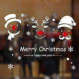 Natale Vetrofanie Rimovibile Adesivi Murali Fai da te Finestra Decorazione...