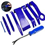 Manelord 内張り剥がし パネルはがし パワーシード 脱着工具 クリップクランプツール 9点セット (ブルー)
