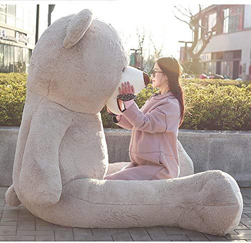 Banabear Lerosier Teddy trägt Riesenplüsch von 130 bis 340 cm !! Teddybär Teddybär Riesiger Bär (Grau, 160 cm)
