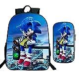 Estuche de 2 unidades/set de gran espacio sónico mochila para adolescentes, mochila diaria para estudiantes de regreso a la escuela, regalos para niños y niñas