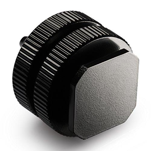 Neewer® Schwarz 1/4 Zoll Stativgewinde auf Blitzschuh Montageadapter