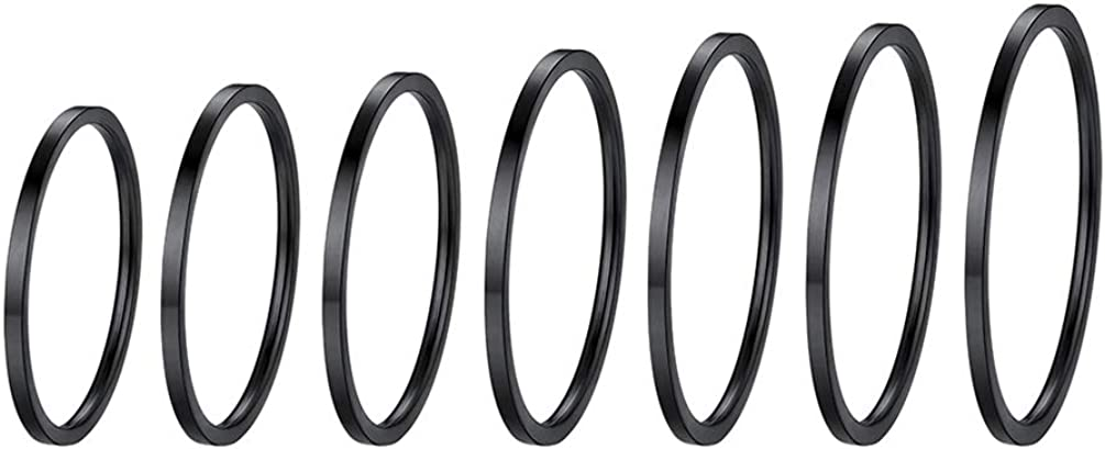 Stainless Steel Rings 2021 new Set Women's M Knuckle Large-scale sale Band Plain Stacking