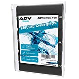 ADV Tennis Dry Overgrip - 12 Pack - Ultra Absorbent Grip Tape with Exclusive FeltTac Material for High Velvety Comfort - Pro Tested & Designed (Midnight)