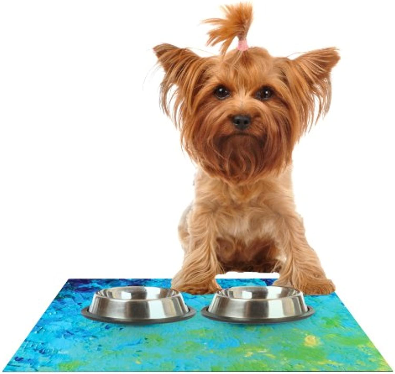 KESS InHouse Ebi Emporium True Reflection  Feeding Mat for Pet Bowl, 18 by 13Inch