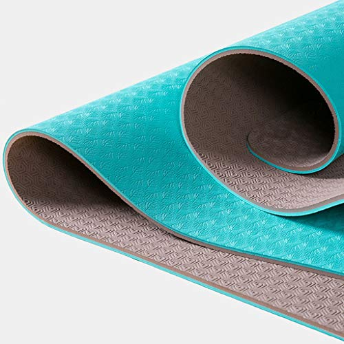 Jian yogamat, fitnessmat, gymnastiekmat. Draagriem huidvriendelijke fitnessmat 183 x 71 cm – versch. fitness trainingsmat yoga en fitnessmatten koop er één en gratis gratis