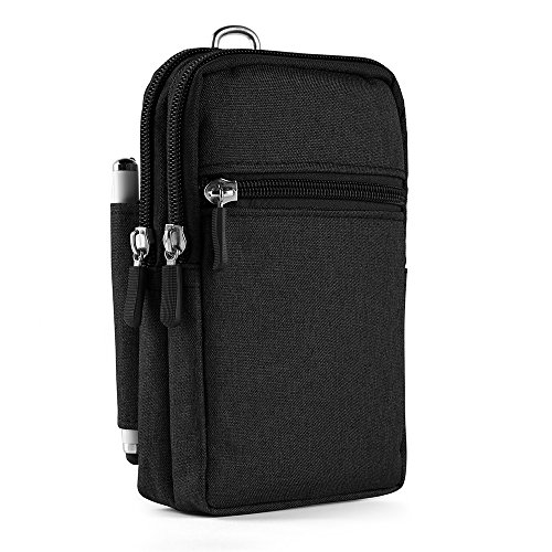eBigValue Utility Travel Tactical Pouch Carrying Case for ASUS Zenfone Live, 3s Max, Pegasus 3s, AR, 3 Zoom (Black)