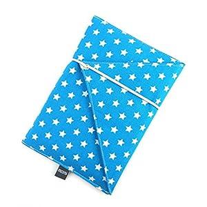 gefütterte Schutzhülle für eBook-Reader Handgenäht aus Baumwolle Design: 02EU0008