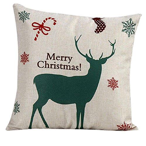 Kolylong® Weinlese-Weihnachtsweihnachtsmann-Schlafsofa-Kissenbezug