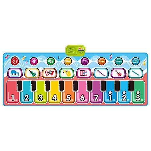 Alfombra de Juego para bebs, Alfombra Plegable de msica y Baile para nios Alfombra de Juego Cojn Manta de Juego Juguetes educativos, Juguetes y Pasatiempos (Multicolor)