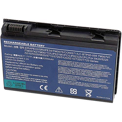 XITAIAN 5200mAh GRAPE32 TM00741 Repuesto Batería para Acer Extensa 5120 5210 5220...