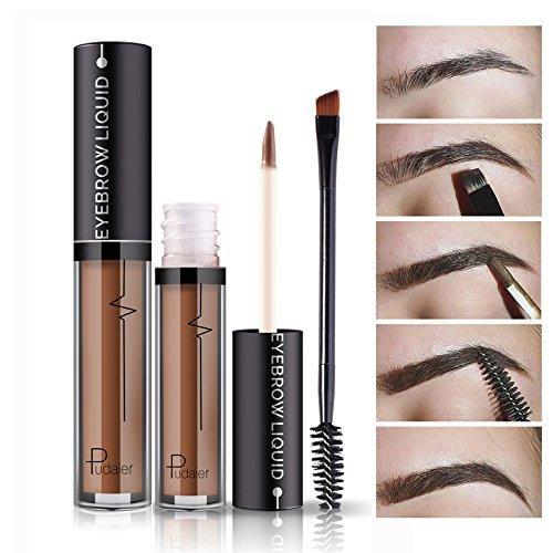 Impermeable Sourcil à Longue Durée de vie Gel Paupières Liquide Maquillage + Brosse #1
