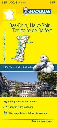 Bas-Rhin, Haut-Rhin, Territoire de Belfort - Michelin Local (Michelin Map)