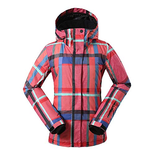 KIBILLL Vrouwen Sneeuw Ski Jas Thermische Retro Gedrukt Winter Hooded Sneeuw Jassen Jassen Waterdicht Winddicht