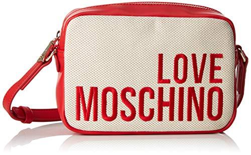 Love Moschino Canvas, Borsetta da Polso Donna, Multicolore (Naturale), 15x10x15 cm (W x H x L)