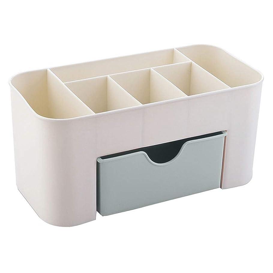 Papiroom 化粧品収納ボックス コスメボックス 小物入れ 引き出し付き 卓上収納 安定 シンプル 櫛置き場 コスメ収納 置き場 まとめ収納 メイクボックス レディース ギフト オフィス 家庭 強い耐久性 (GR)