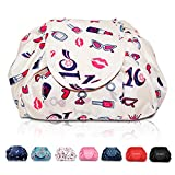Lazy Drawstring Make up Bag Portable Large Travel Cosmetic Bag Pouch Travel Makeup Pouch Storage Organiser for Women Girl (Lipstick)