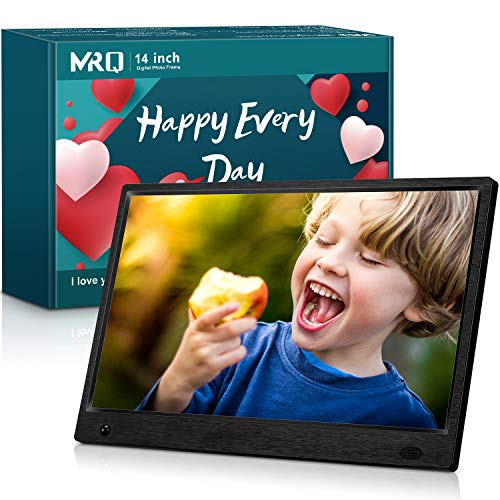 Our #4 Pick is the MRQ 14 Inch Full HD Digital Photo Frame 1920x1080 High-Resolution IPS Screen