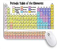 ECOMAOMI 可愛いマウスパッド 周期表元素リスト 滑り止めゴムバッキングマウスパッドノートブックコンピュータマウスマット