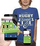 PIXEL EVOLUTION T-Shirt 3D Rugby Clermont en Réalité Augmentée Enfant - Taille 9/11 Ans - Bleu Royal
