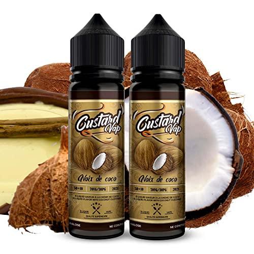 Pack E-liquid 2 x 50ml Custard Vap de Vainilla con COCO |...