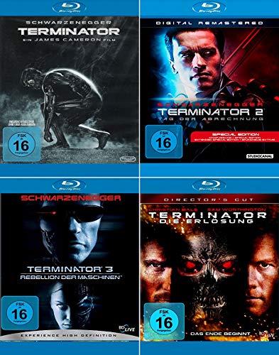 Terminator 1 - 4 (Teil 1 + 2 + 3 + 4) [4er Blu-ray-Set]