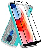 Dahkoiz Case for Moto G Play 2021 Case, Motorola G Play Case with Tempered Glass Screen Protector, Durable Defender Armor Cover Sturdy Protective Phone Cases for Motorola Moto G Play 2021, Mint