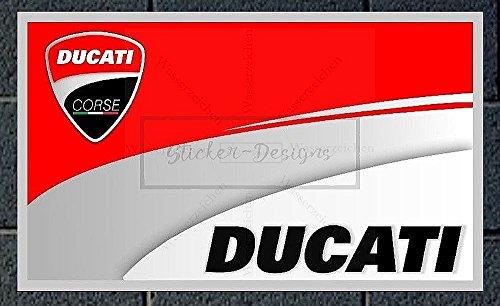 20cm! 2Stück!Aufkleber-Folie Wetterfest Made IN Germany kompatibel für: Ducati Bke279 UV&Waschanlagenfest Auto-Vinyl-Sticker Decal Profi-Qualität Bike Rad e Kleber