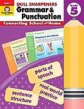 Evan-Moor Skill Sharpeners Grammar and Punctuation Grade 5, Full-Color Activity Book - Supplemental Homeschool Workbook