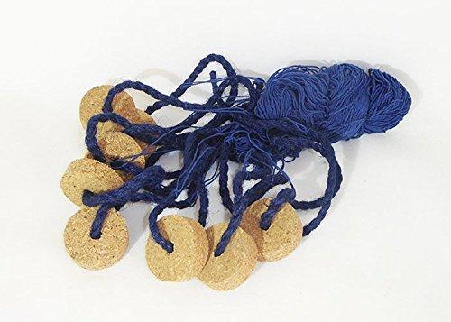 Decoro mare e conchiglie Fischernetz C/Schwimmer cm 150x 100 blau