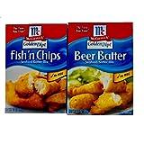 McCormick Golden Dipt Beer Batter and Golden Dipt Fish 'n Chips Seafood Batter Mix Bundle | Beer...