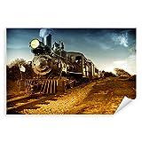 Postereck - 0011 - Alte Lokomotive, USA Eisenbahn Zug