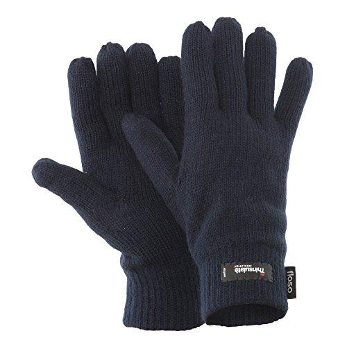 Floso - Gants d'hiver thermiques Thinsulate (3M 40g) - Homme (Taille unique) (Bleu marine)