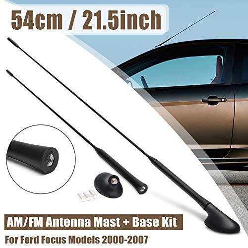 YUSHHO56T Auto Antenne Auto Interieur Onderdelen Auto Antenne Auto Voertuig Dak Vervanging AM/FM Antenne Mast Base voor Ford Focus 2000-2007 - Zwart