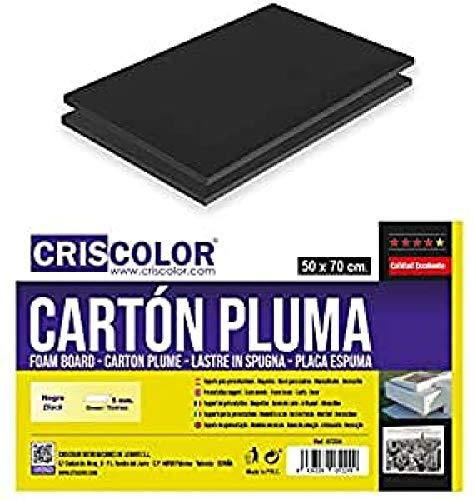 Criscolor 402247 CARTÓN PLUMA NEGRO 50x70cm.