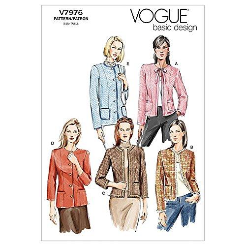 Vogue Schnittmuster 7975Damen Jacke Größen: 12–14–16