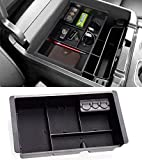 Jaronx Center Console Organizer Tray+Coin Holder for Chevy Silverado/GMC Sierra 1500 (2014-18) and 2500/3500 HD (2015-19) / Chevy Suburban/Tahoe/GMC Yukon (2015-20),Armrest Secondary Storage Box