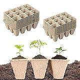 Paquete de 20 semilleros biodegradables,Bandejas biodegradables para...