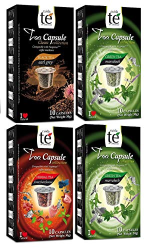 Capsulas de Te Nespresso Cuidate - Degustacion 60 Capsulas Compatibles - 3 Sabores
