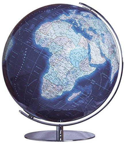 COLUMBUS DUO AZZURO: 34 cm Durchmesser, OID-Code, handkaschiert, Meridian und Fuß Chrom