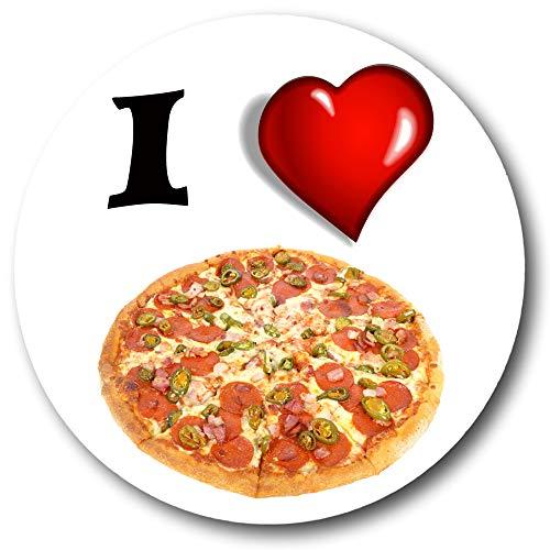 Gifts & Gadgets Co. I Love Pizza-Magnet-Flaschenöffner, 58 mm Durchmesser, groß