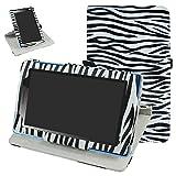 Mama Mouth Lenovo Tab3 A7-10 / Tab 3 7 Essential Rotación Funda, 360° Rotación PU Cuero con Soporte Funda Caso Case para 7' Lenovo Tab3 7 Essential 710F 710I Android Tablet 2016,La Cebra Negro