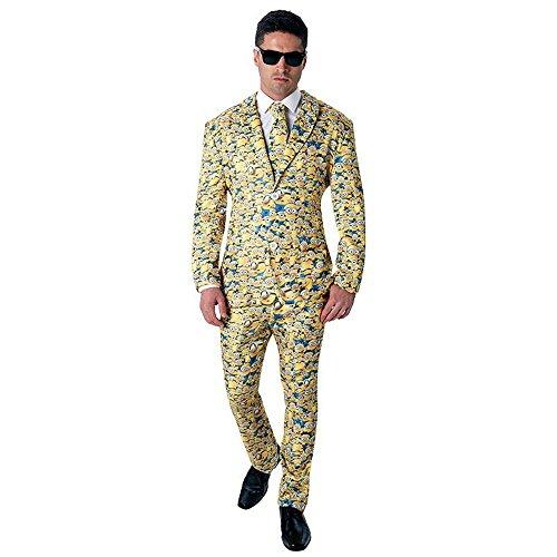 Rubie's Herren Kostüm Minion Anzug mit Krawatte Karneval Fasching Gr.M/L