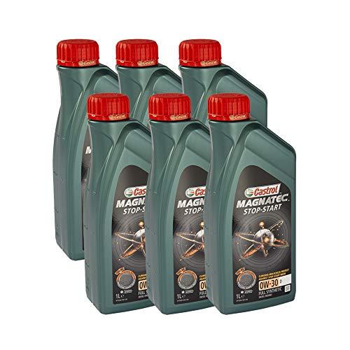 Lubrialpha Olio Motore castrol Castrol Magnatec Stop-Start 0W-30 D confeziona da 6 Litri